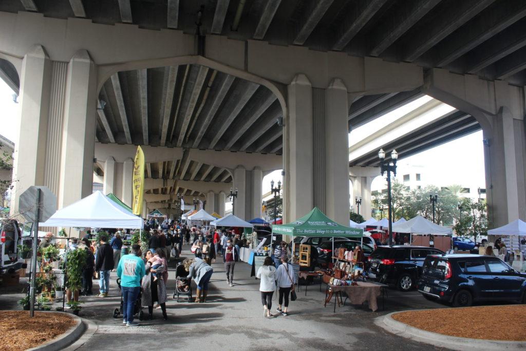 Riverside Arts Market Bridge